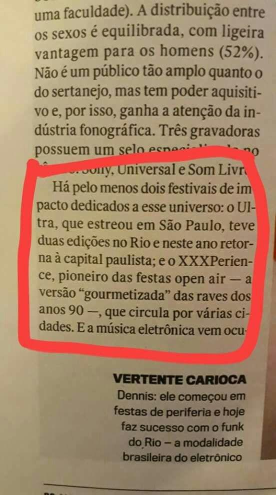 Trecho da matéria publicada na revista Veja